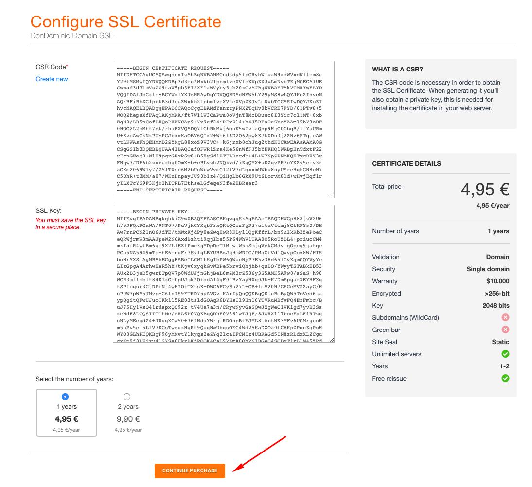 How to buy an SSL certificate - MrDomain