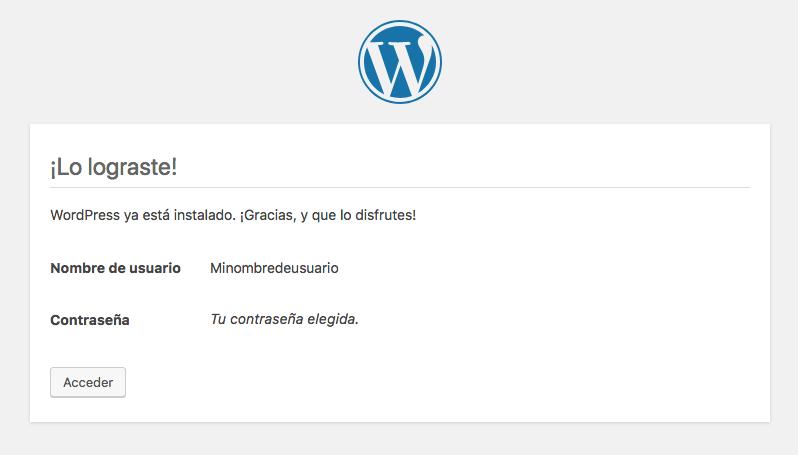 Instalador WordPress paso 5
